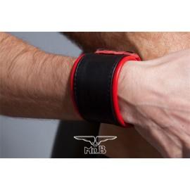 COLT Wrist Strap Band Black and Red bracciale leather pelle con velcro