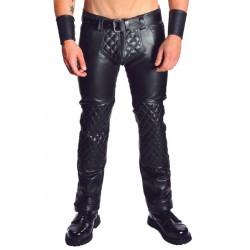 Mister  Jeans Padded pantaloni leather imbottito in pelle