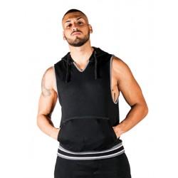 Mister B URBAN San Jose Sleeveless Hoodie Black smanicata con cappuccio