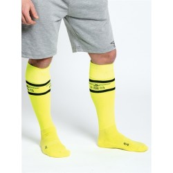 "Mister B URBAN Football Socks with Pocket Neon Yellow calzettoni ""football"" giallo neon"