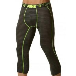 Junk Balance Street Runner Shin Length Underwear Yellow Leggings sportivi intimo uomo