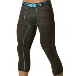 Junk Balance Street Runner Shin Length Underwear Aqua Blue Leggings sportivi intimo uomo