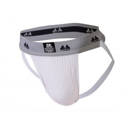 MM Jocks Adult Supporter bike style White jockstrap sospensorio