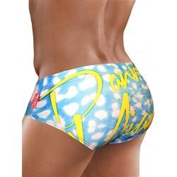 Danny Miami Sea Blue Brief Swimwear Multi slip costume da bagno