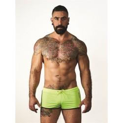 Mister B URBAN Ibiza Shorts Fluo Blue calzoncini per lo sport swim beachwear streetwear