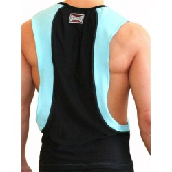 GB2 Arnold Training Muscle Tank Top Black Blue canotta smanicata