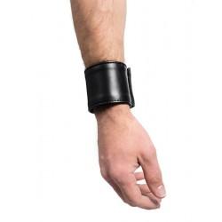 Mister B Leather Small Wrist Wallet With Zip bracciale con portafoglio interno con zip in leather pelle