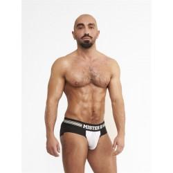 Mister B URBAN Antwerp Jock Brief White slip traforato speciale aperto dietro underwear intimo uomo