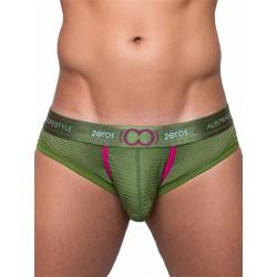 2Eros Aeolus Brief Underwear Green Gale slip