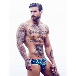 2Eros Print Swimwear Wild Swim Briefs slip costume da bagno